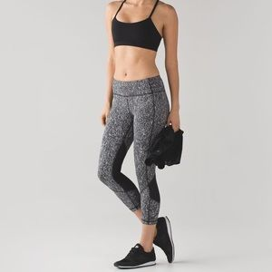Lululemon Pace Rival Crop Luxtreme Suited Jacquard